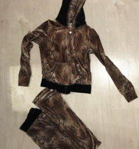 Бархатный спортивный костюм