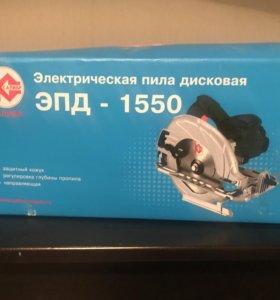 Ручная электрическая пила дисковая эпд-1550 Калибр