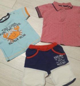 Шортики и футболка на мальчика