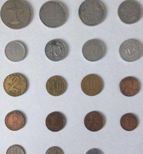 Монеты иностранные и времён СССР