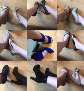 Туфли на каблуке. Балетки. Осенние сапоги. Обувь п