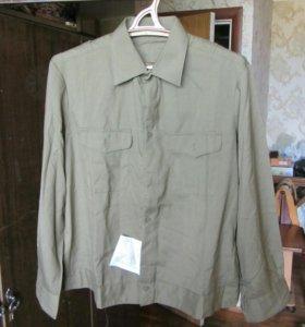 Рубашка военная защитного цвета, новая 1992 г