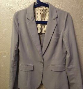 Пиджак серо-голубой