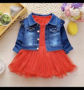 Новый пиджак и платье на 1,5-2 года