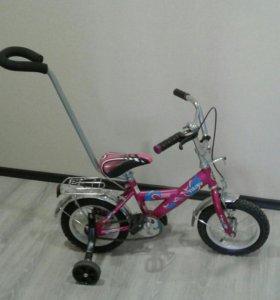 Велосипед детск. 2-х колесный с ручкой
