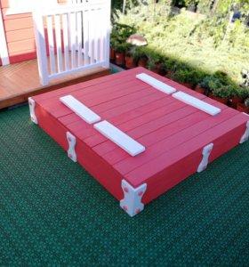 Детская песочница конструктор 1,2*1,2*0,22м