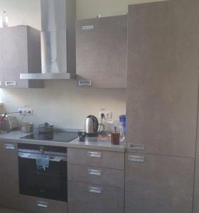 Кухня встроенный холодильник плита посудомоеч маши