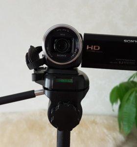Профессиональная видеокамера Sony cx625+штатив