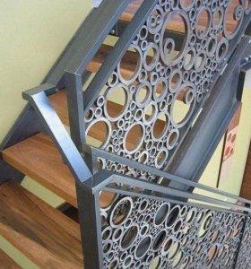 Лестница на металлокаркассе