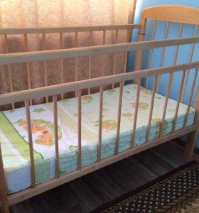 Кроватка Мишутка (светлая)