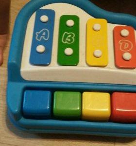 Пианино детское, ксилофон