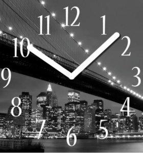 "Innova Часы W09661 ""Мост"", квадратные, стекло"