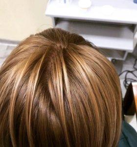 Окрашевания волос ,стрижка