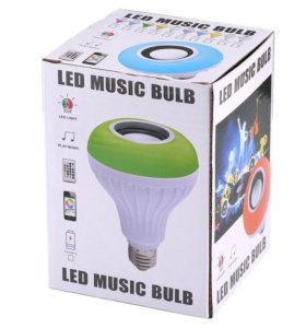 LED лампа мультиколор с Bluetooth колонкой