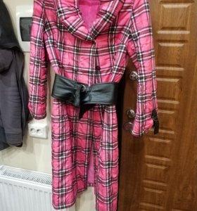 Пальто дутик длинное оригинальный дизайн