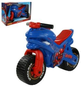 """Каталка-Мотоцикл""""Человек-паук!!!"""