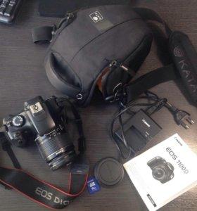 Фотоаппарат Canon EOS 1100D с аксессуарами