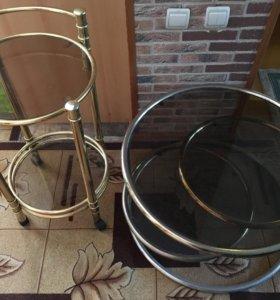 Стеклянные кофейные столики