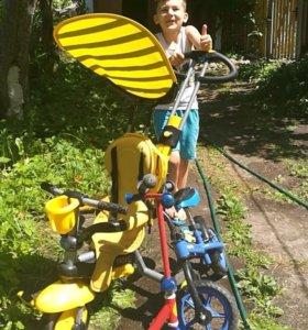 Детские велосипед, велобег, самокат