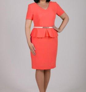 Новое платье+пояс 52 размер