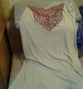 Ночная модная сорочка 56 -58 размер.