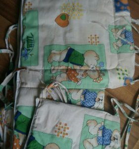 Бортики для детской кроватки(подойдут мальчику и д