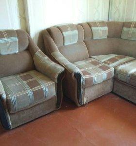 Мягкий уголок ( диван и кресло )