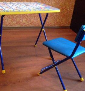 Стол стул детский набор складной