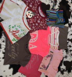 Фирменные футболки, топ, шорты, цена за все
