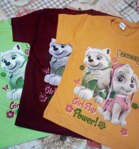 Новые футболки на 5,6,7,8 лет