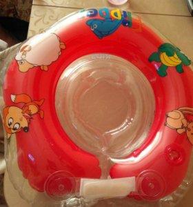 Круг для ванной детский и горка для купания
