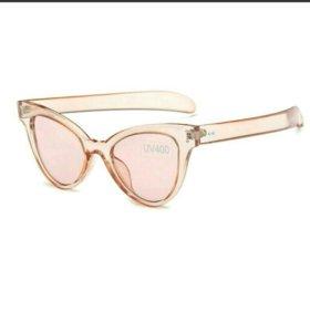 Новые очки солнцезащитные оранжевые
