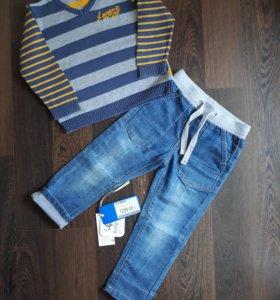 Брюки джинсовые для мальчика (Размер 92)