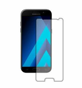 Защитные стекла для Samsung A5, А8+, J2, J5 Prime