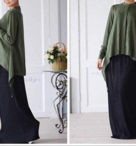 Блузка хаки хиджаб