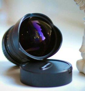 Пордам объектив Sumyang 8mm f/3.5 для Canon