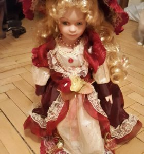 Кукла Фарфоровая 16 дюймов Куклы Одна на подставке