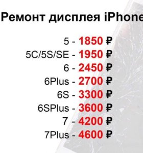 Замена дисплея на iPhone 6,6s,7, 8