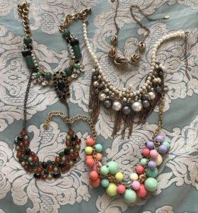 Бусы/ожерелья для девушек