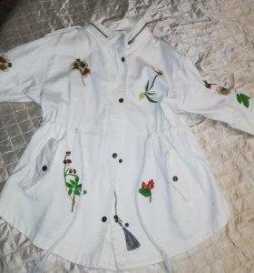 Джинсовая летняя куртка