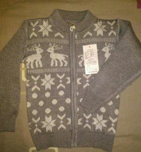 Новый свитер олени шерсть плюс акрил