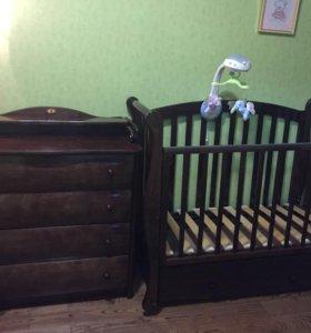 Комод и кроватка Можга