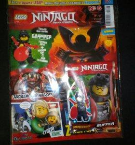 Лего журнал с минифигуркой и двумя плокатами