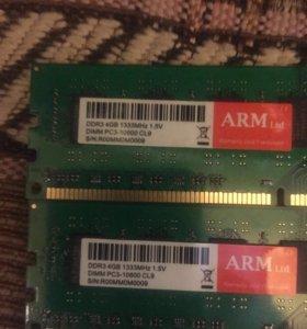 Оперативная память 2х4 Gb 1333mhz