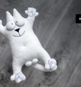 Кот Саймона игрушка на присосках