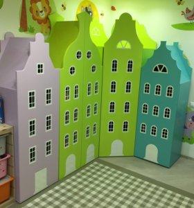 Детская мебель, шкаф-домик «Амстердам»
