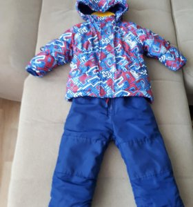 Синий комплект куртка, полукомбинезон.