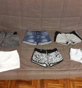 Шорты женские джинсовые и трикотажные