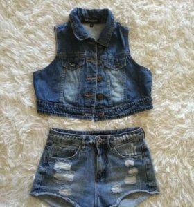 Жилет джинса как новый
