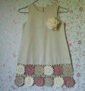 Платье ручной работы рост 104